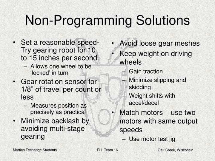 Set a reasonable speed-Try gearing robot for 10 to 15 inches per second