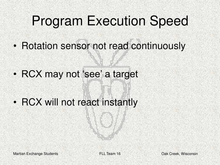 Program Execution Speed