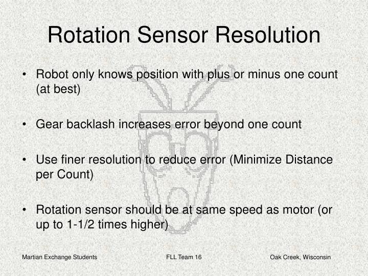 Rotation Sensor Resolution