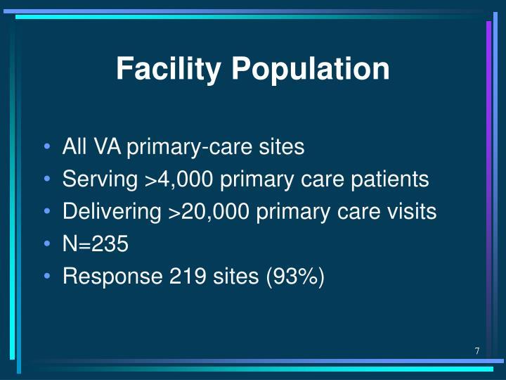 Facility Population