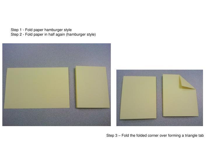 Main Idea Center Fold
