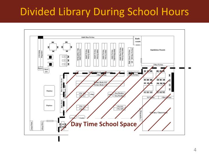 Divided Library During School Hours