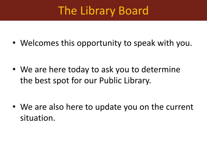 The Library Board