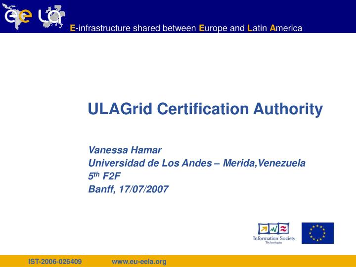 Ulagrid certification authority