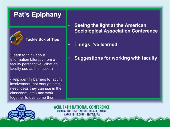 Pat's Epiphany
