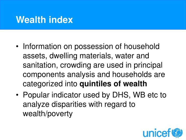 Wealth index