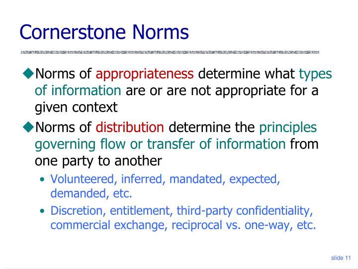 Cornerstone Norms