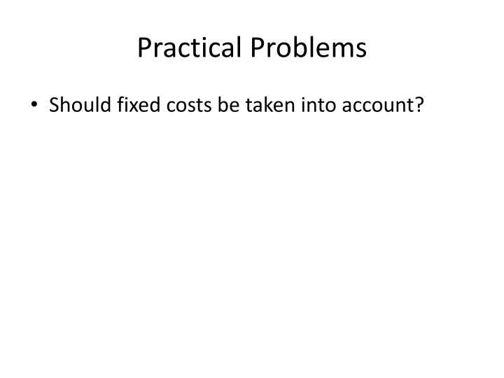 Practical Problems