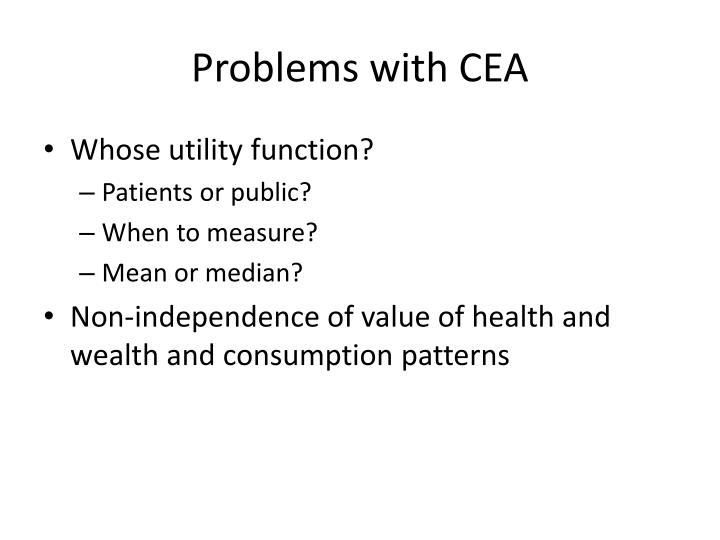 Problems with CEA