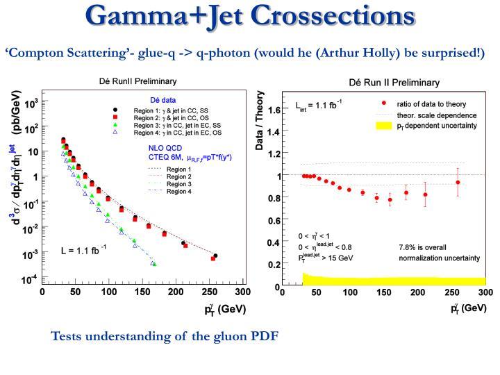 Gamma+Jet Crossections