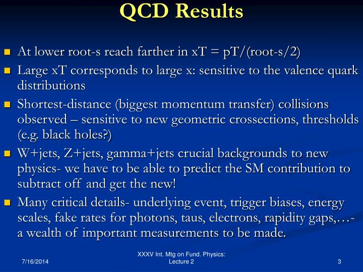 QCD Results