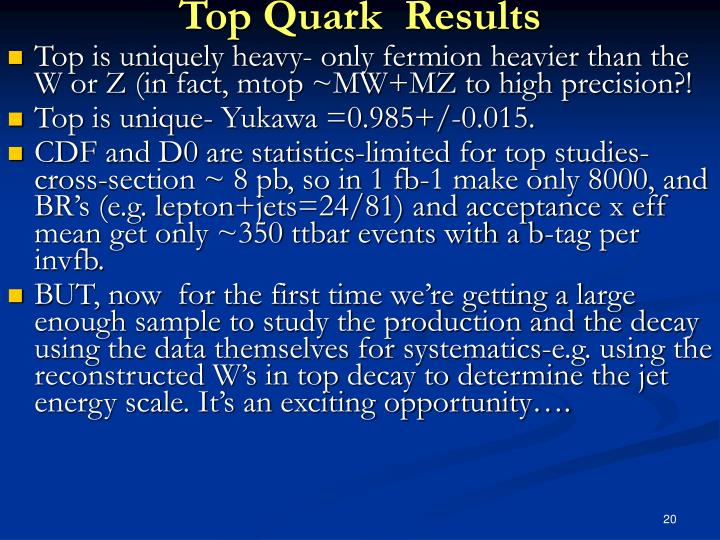 Top Quark  Results