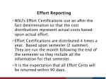 effort reporting1