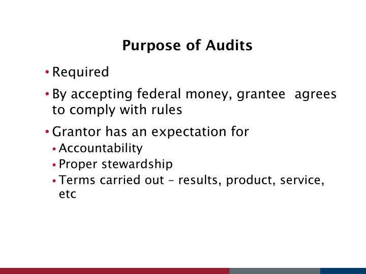 Purpose of Audits