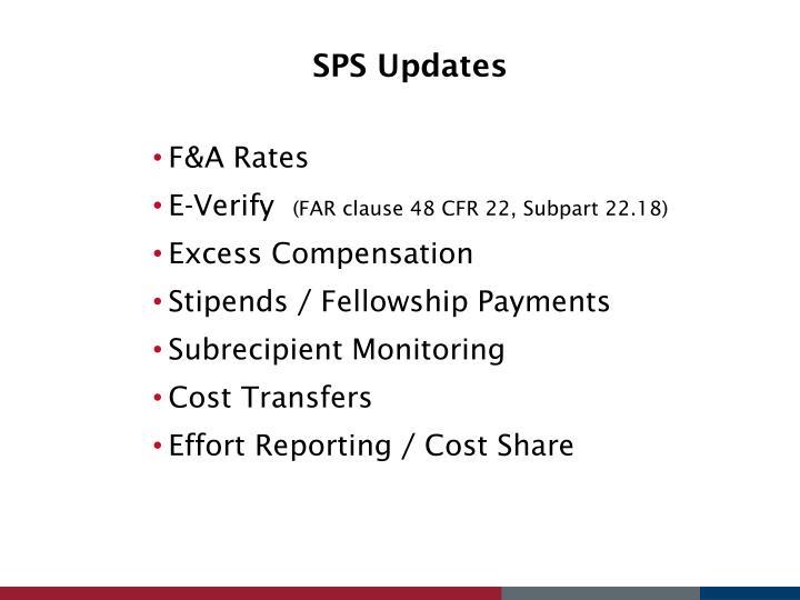 SPS Updates