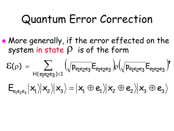 Quantum Error Correction