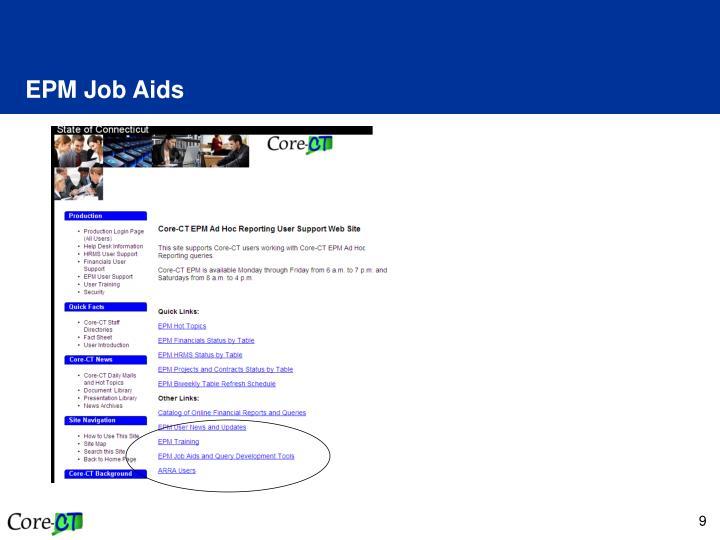 EPM Job Aids