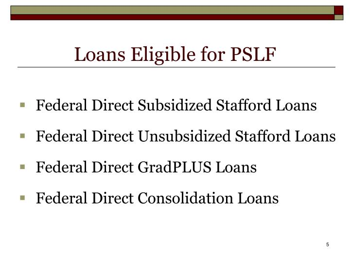 Loans Eligible for PSLF