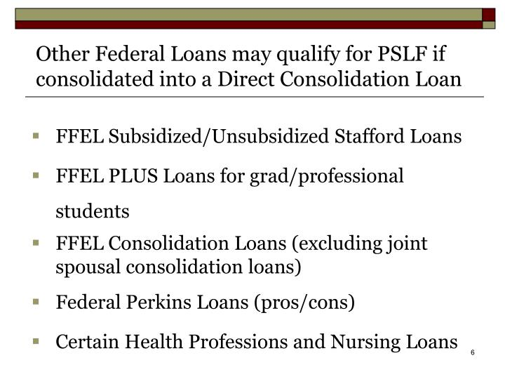 FFEL Subsidized/Unsubsidized Stafford Loans