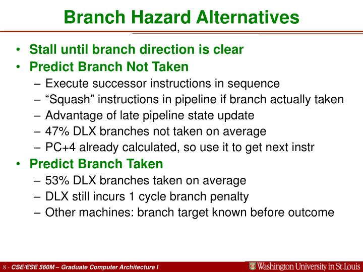 Branch Hazard Alternatives