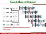 branch hazard control