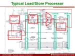 typical load store processor