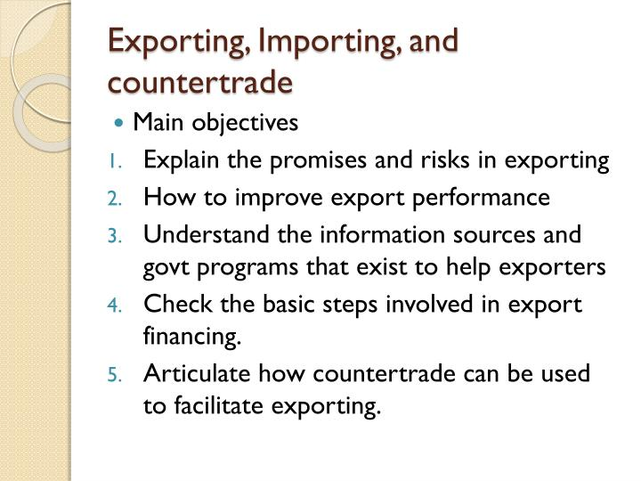 Exporting importing and countertrade1