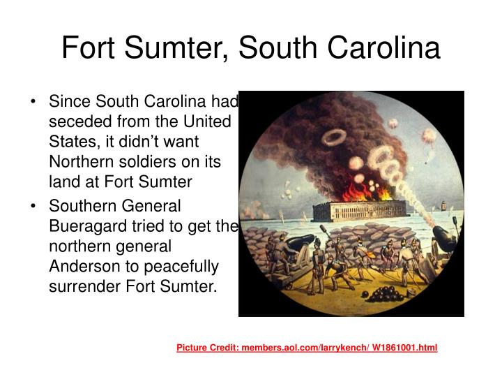 Fort sumter south carolina