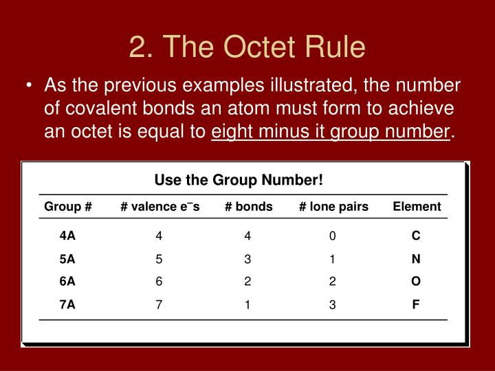 2. The Octet Rule