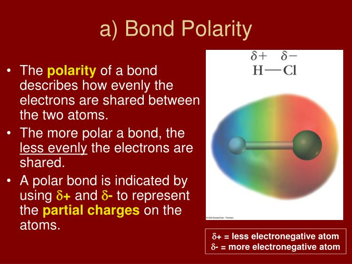 a) Bond Polarity