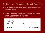 c ionic vs covalent bond polarity