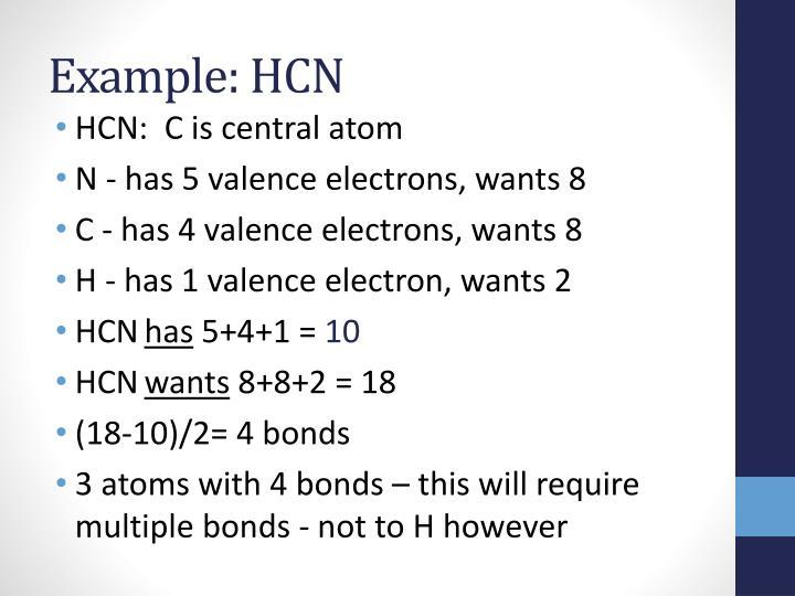 Example: HCN