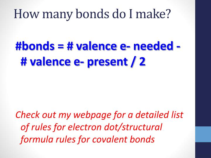 How many bonds do I make?