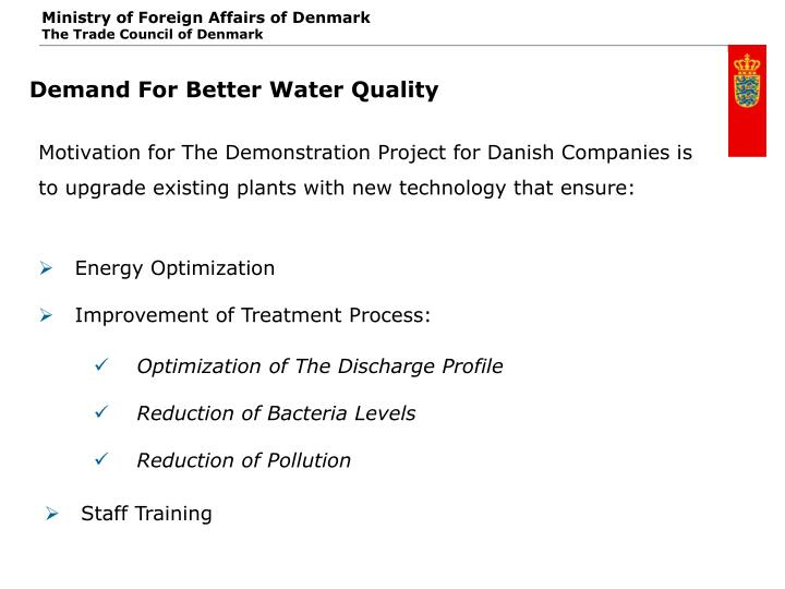 Demand For Better Water Quality