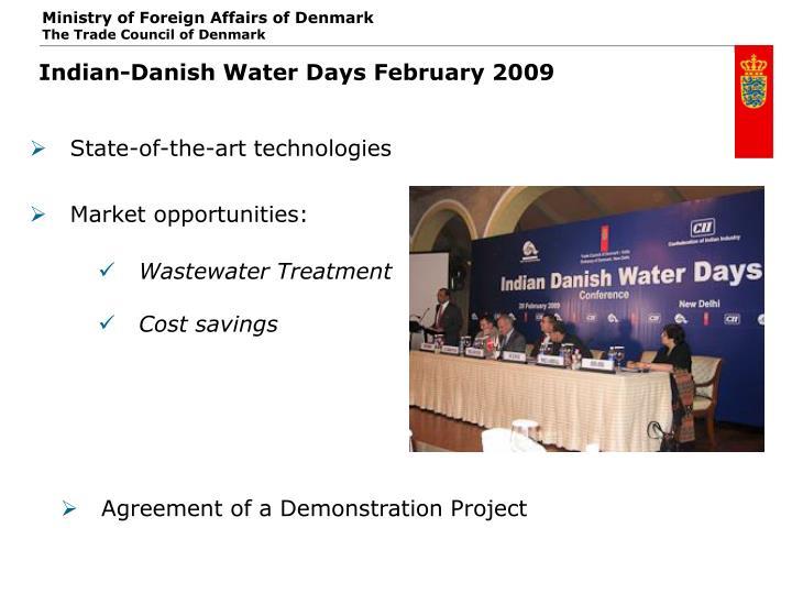 Indian-Danish Water Days February 2009