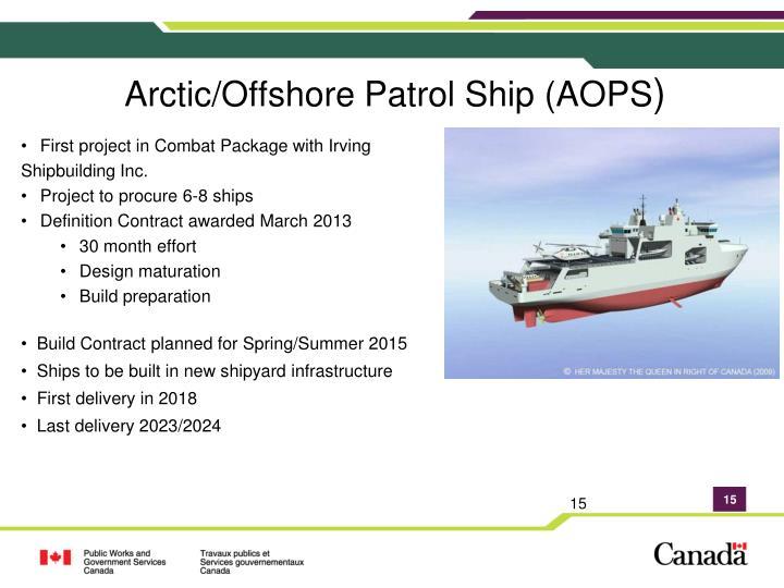 Arctic/Offshore Patrol Ship (AOPS