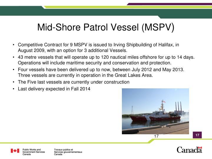 Mid-Shore Patrol Vessel (MSPV