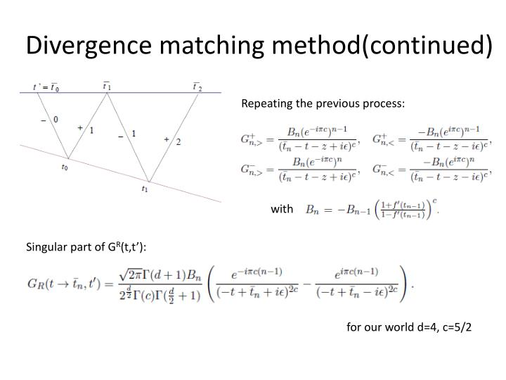 Divergence matching method(continued)