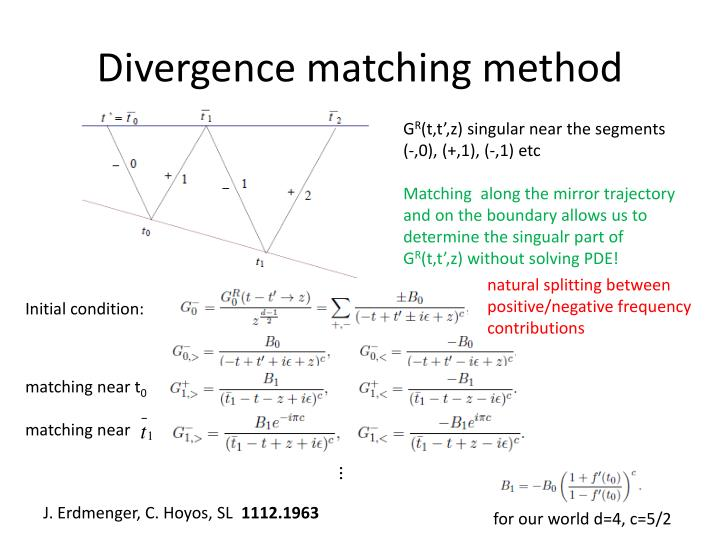 Divergence matching method