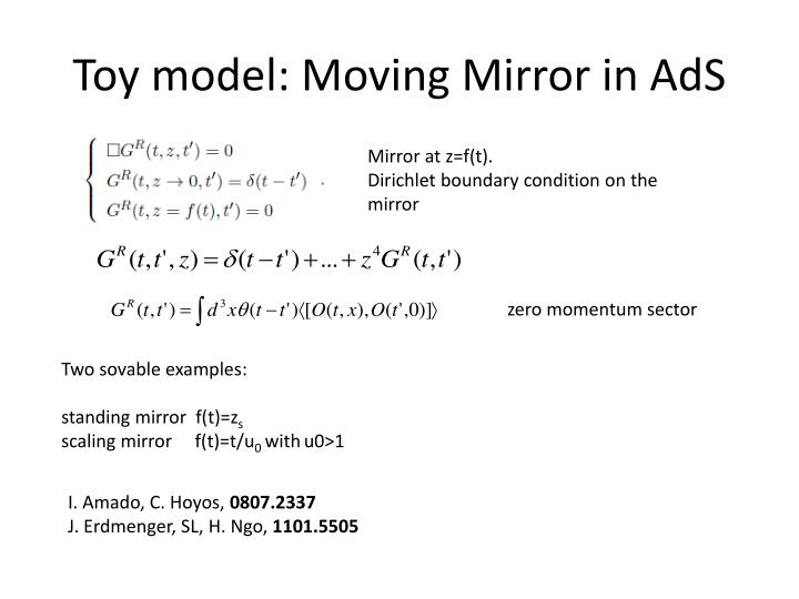 Toy model: Moving Mirror in AdS