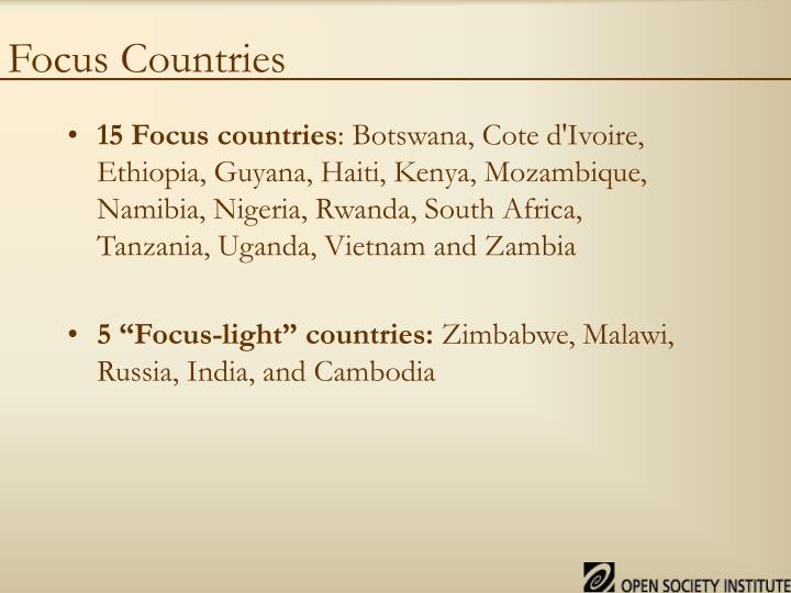 Focus Countries
