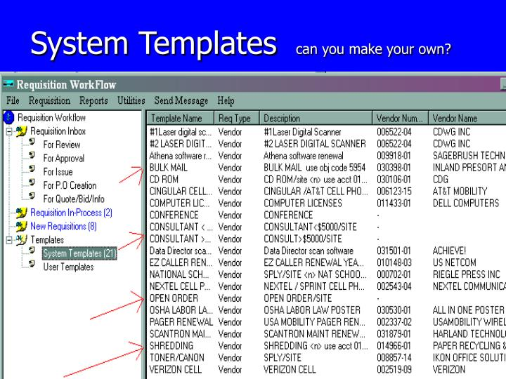 System Templates
