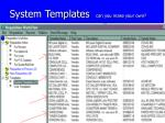 system templates can you make your own