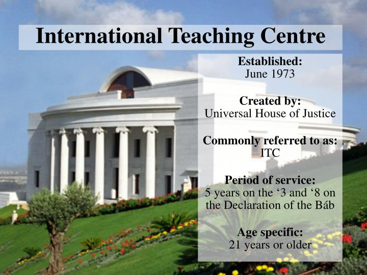 International Teaching Centre