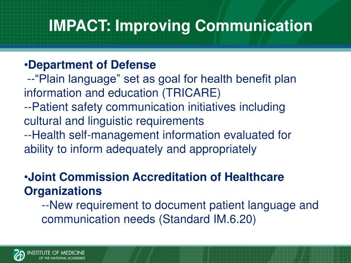 IMPACT: Improving Communication