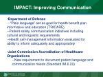 impact improving communication
