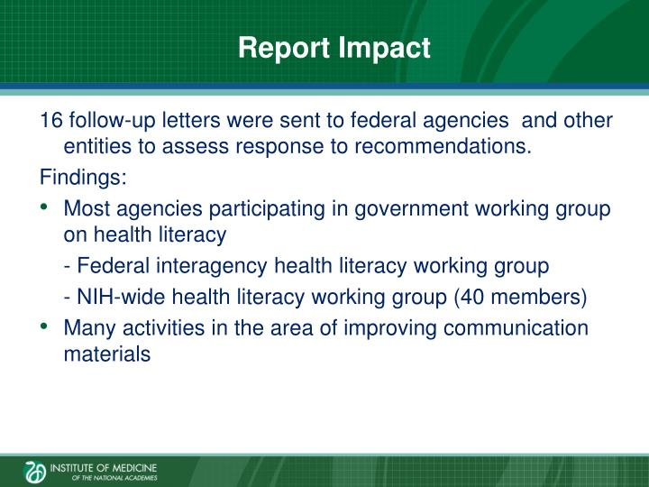 Report Impact