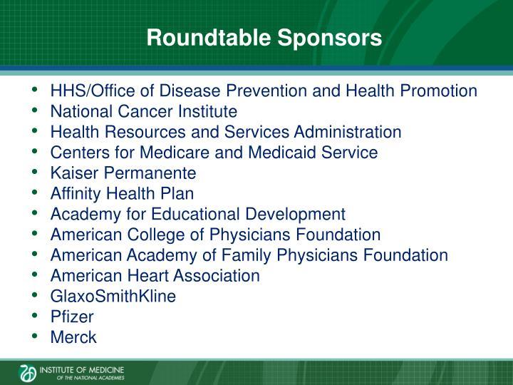 Roundtable Sponsors