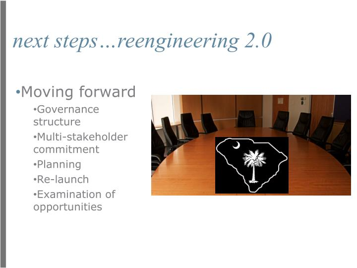 next steps…reengineering 2.0