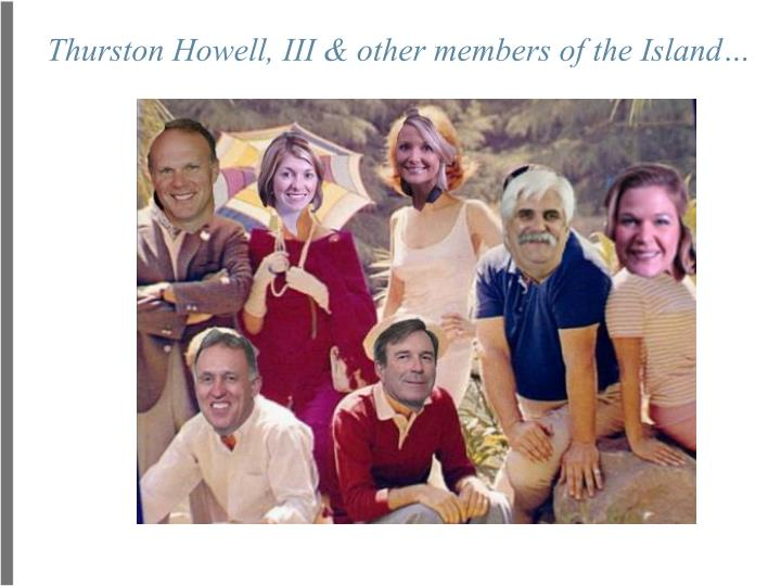 Thurston howell iii other members of the island